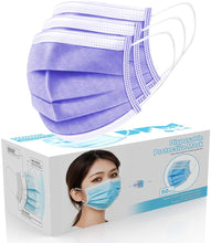 Load image into Gallery viewer, [50 Pc/Box] Face Mask Disposable Non Surgical 3-Ply Earloop Mouth Cover Masks- Silver