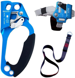 Hand Ascender Rock Climbing Tree Arborist Rappelling Gear Equipment Rope Clamp for 8~12MM Rope