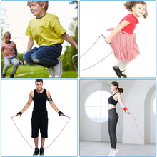 Load image into Gallery viewer, Jump Rope Soft Beaded Segment Jump Rope - Adjustable for Men, Women and Kids