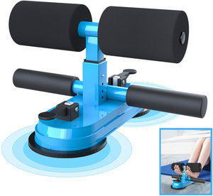 Sit Up Bar for Floor, Upgraded Portable Sit Up Assistant Device Abdomen Exerciser with 2 Suction Cups