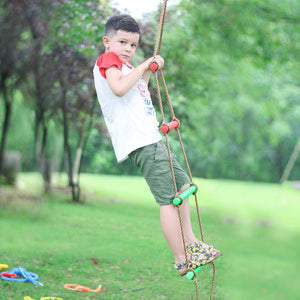 Rainbow Craft Climbing Rope Ladder for Kids - Kids Ninja Course Accessories Backyard
