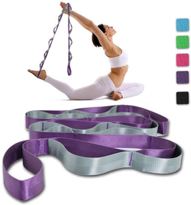 Yoga Strap, Multi-Loop Strap, 12 Loops Yoga Stretch Strap