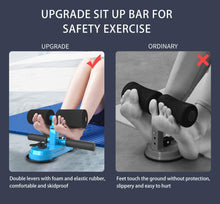 Load image into Gallery viewer, Sit Up Bar for Floor, Upgraded Portable Sit Up Assistant Device Abdomen Exerciser with 2 Suction Cups