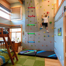 Load image into Gallery viewer, Rainbow Craft Climbing Rope Ladder for Kids - Kids Ninja Course Accessories Backyard