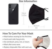 Load image into Gallery viewer, Washable Cloth Face Mask Reusable and Adjustable Protective Fabric Face Cover w/Dust Filter Pocket