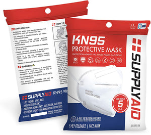 KN95 Protective Mask,Protection Against PM2.5 DustPollen and Haze-Proof5 Pack