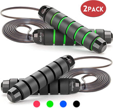 Load image into Gallery viewer, Jump Rope, Tangle-Free with Ball Bearing Cable Speed Rope Skipping Rope