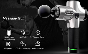 Massage Gun,Handheld Deep Muscle Massager,Cordless Vibration Massage Device