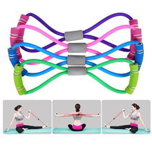 Load image into Gallery viewer, Chest Expander Rope Workout Muscle Fitness Rubber Elastic Bands