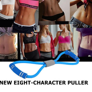 Chest Expander Rope Workout Muscle Fitness Rubber Elastic Bands