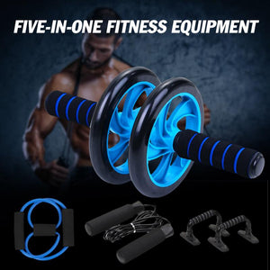 5-in-1 Muscle Trainer Wheel Roller