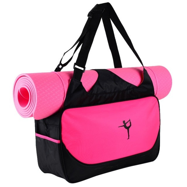 Multifunctional Sport Clothes Backpack Shoulder Waterproof Yoga Pilates Mat Case Bag