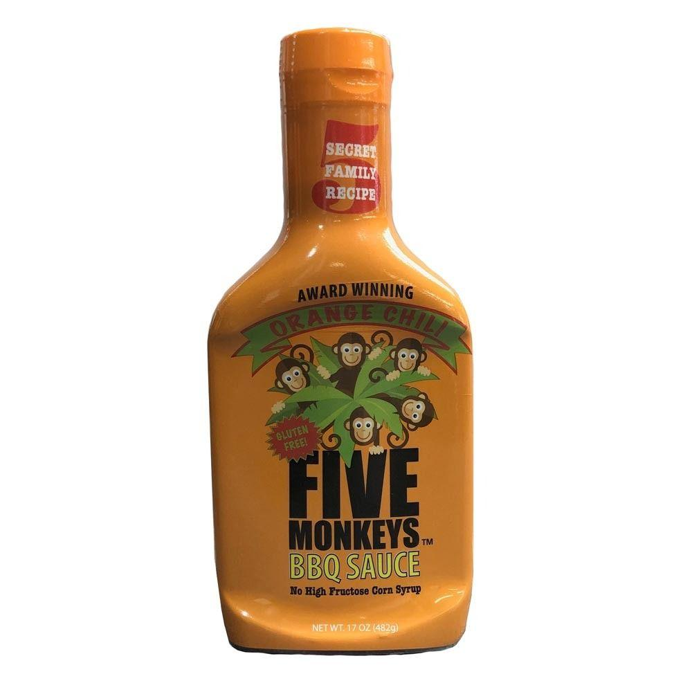 BBQ Gormet Five Monkeys 'Orange Chili' BBQ Sauce - 482g (17 oz) - Creative Outdoor Living