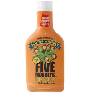 BBQ Gormet Five Monkeys 'Scotch Whiskey' BBQ Sauce - 482g (17 oz) - Creative Outdoor Living