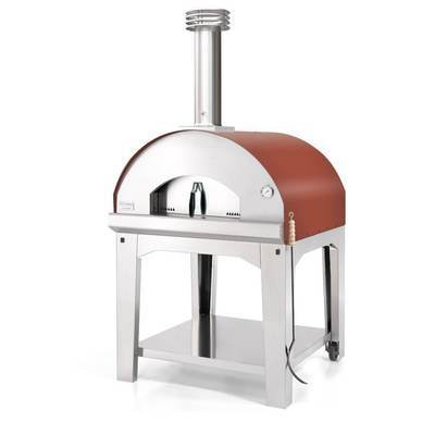 Fontana Fontana Marinara Outdoor Wood Fired Oven Rosso Including Trolley - Creative Outdoor Living