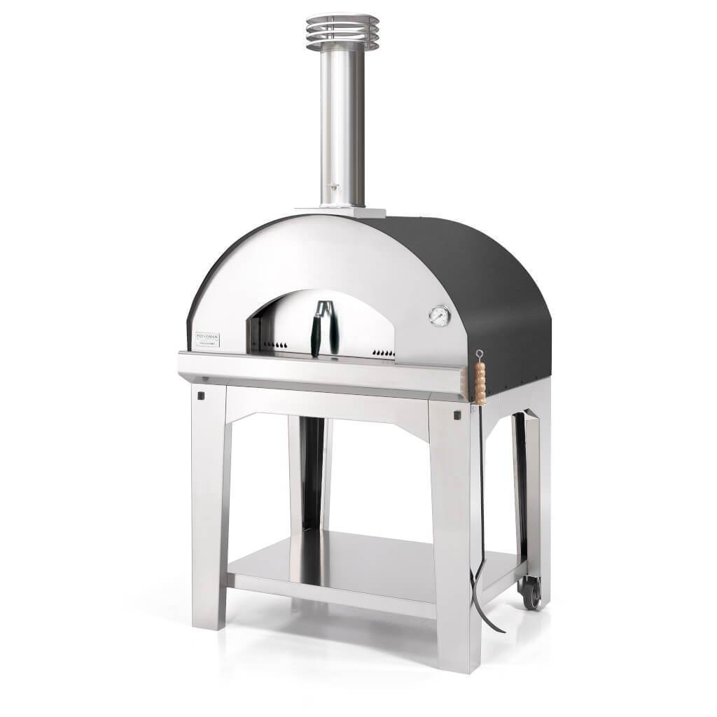 Creative Living Rotherham Fontana Toscano Mangiafuco Wood Fired Oven Anthracite including Trolley - Creative Outdoor Living