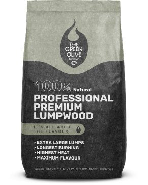 Olive Wood Green Olive Professional Premium Lumpwood 12kg - Creative Outdoor Living