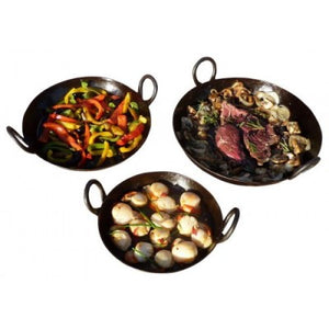 Set of 3 Skillets - No Tongs - Creative Outdoor Living