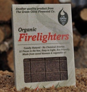 Olive Wood Organic Firelighters 32 Piece - Creative Outdoor Living
