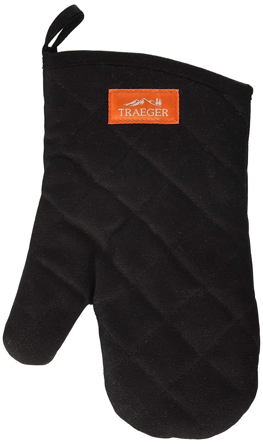 Creative Living Rotherham TRAEGER BBQ MITT-BLACK CANVAS & LEATHER - Creative Outdoor Living
