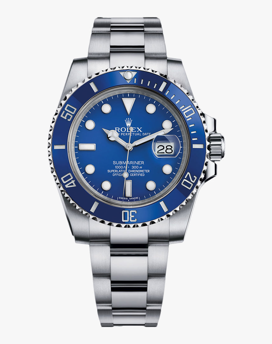 Rolex White Gold Blue Dial Submariner Date 40mm 116619LB