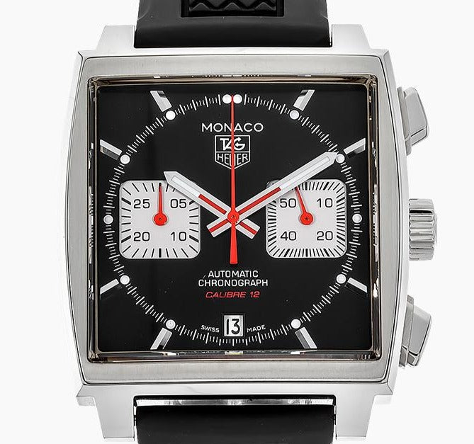 TAG Heuer Monaco Calibre 12 39mm Rubber strap Ref#CAW2114.FT6021