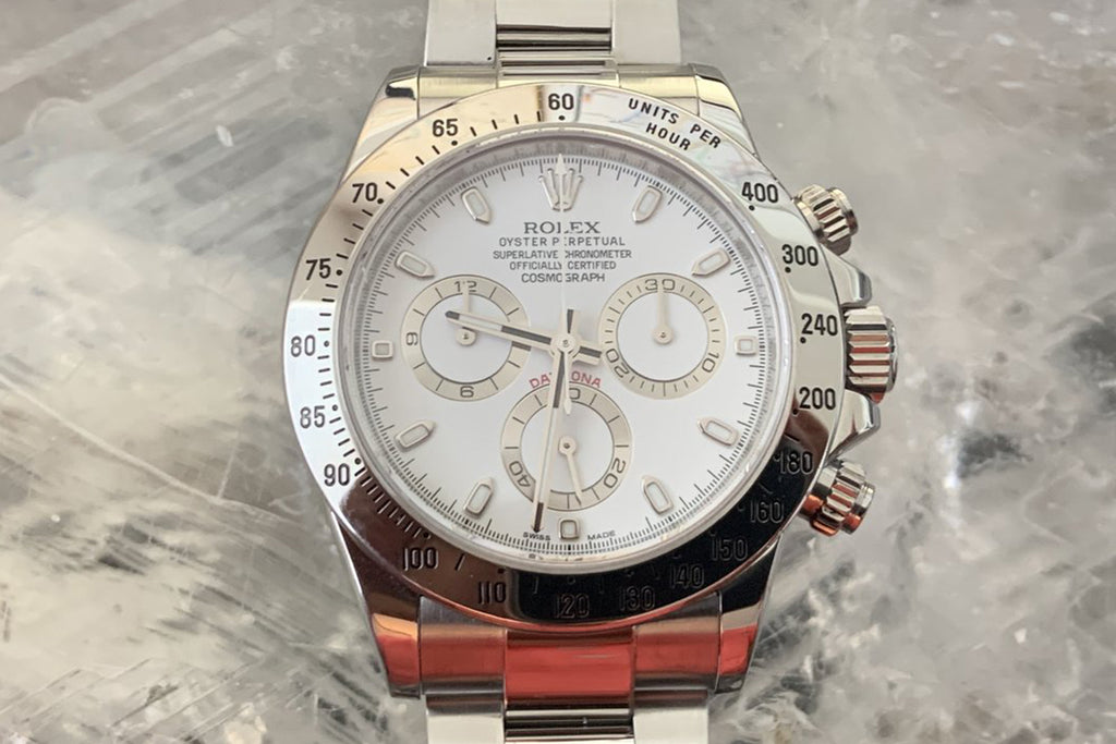 Rolex Daytona Stainless Steel white dial 40mm Steel bracelet 116520