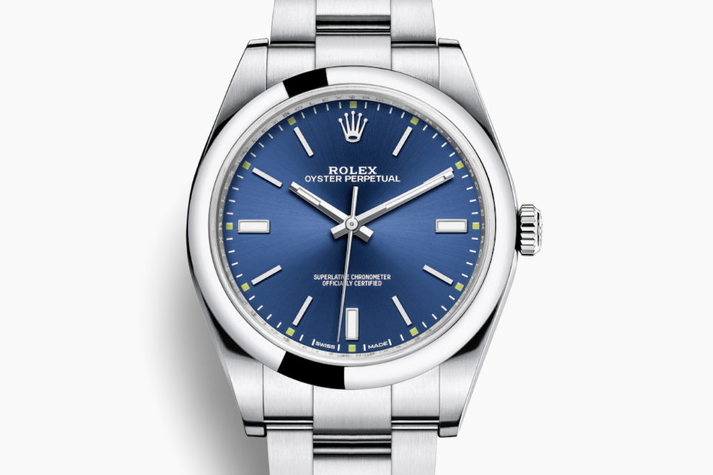 Rolex Oyster Perpetual 39mm Blue Dial 114300