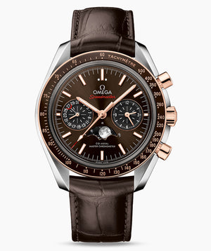 Omega Moonphase Speedmaster 304.23.44.52.13.001 Chocolate dial 44.25mm Brown Crocodile band
