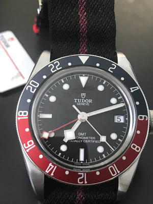 Tudor Black Bay Pepsi GMT 41mm Nato Strap 79830RB