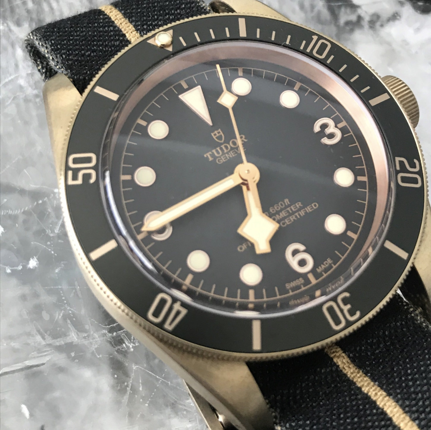 Tudor Black Bay Bronze 43mm Nato Strap 79250BA