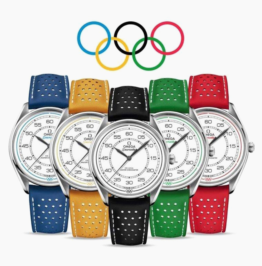 Omega Olympic FULL SET Limited Edition 522.32.40.20.04.001  2008 Beijing Olympics China Set 39.5mm Perforated leather strap