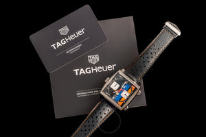 TAG Heuer Monaco Calibre Gulf 11 39mm Leather strap CAW211R.FC6401