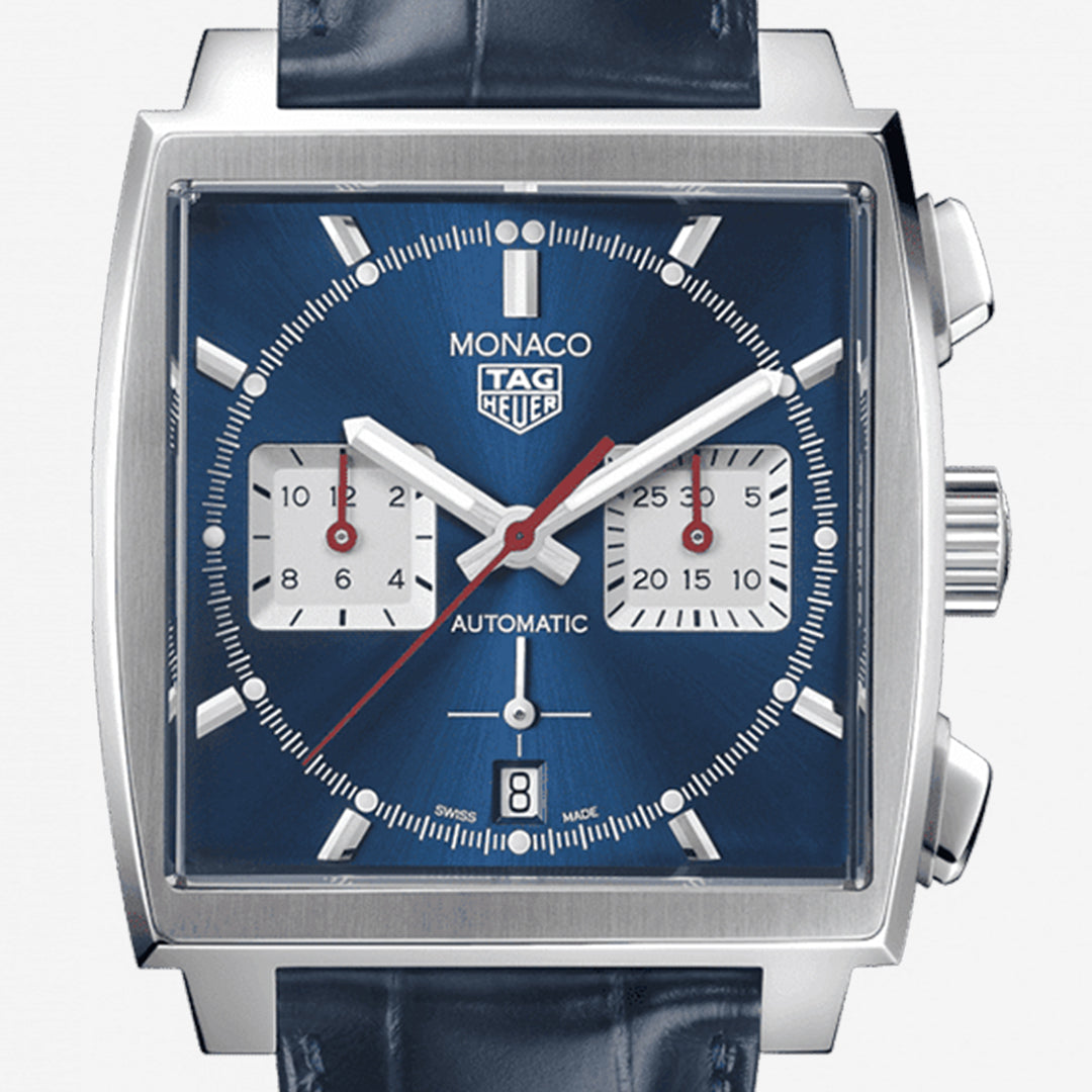 TAG Heuer Monaco 02 Leather strap 39mm Ref#CBL2111.FC6453