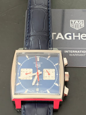 TAG Heuer Monaco 02 39mm Leather strap CBL2111.FC6453