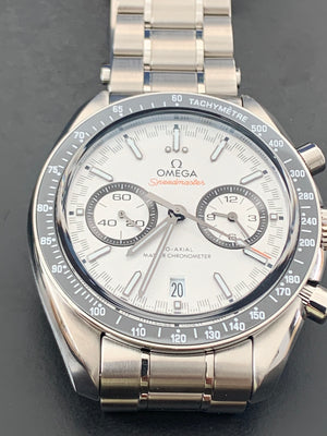 Omega Speedmaster Racing Master 329.30.44.51.04.001 Chronometer White dial 44.25mm steel bracelet