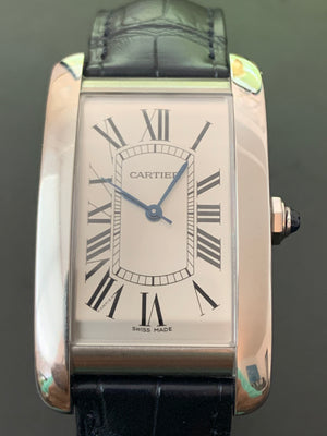 Cartier Tank WSTA0018 Large 26.50 x 45.10 Navy Crocodile strap