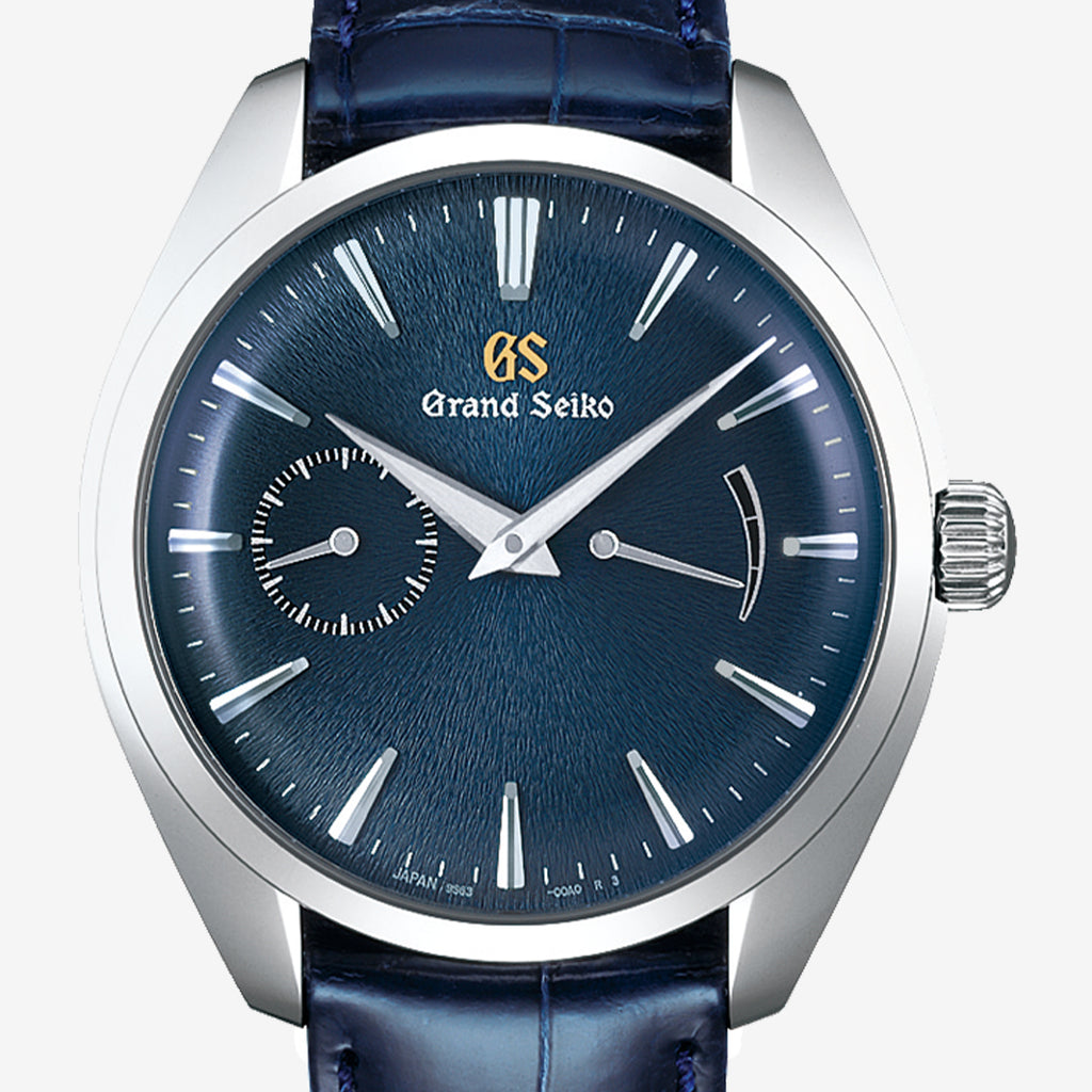 Grand Seiko Limited  Edition Elegance Blue Dial Spring Drive 39mm Crocodile strap SBGK005