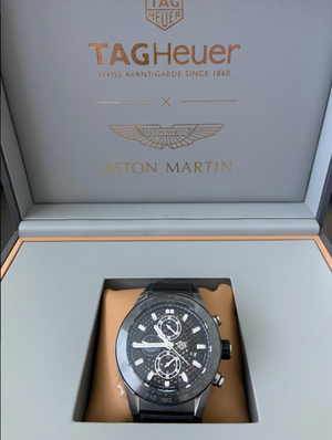 TAG Heuer TAG Carrera Aston Martin Limited Racing 45mm Leather strap CAR2A1AB.FT6163