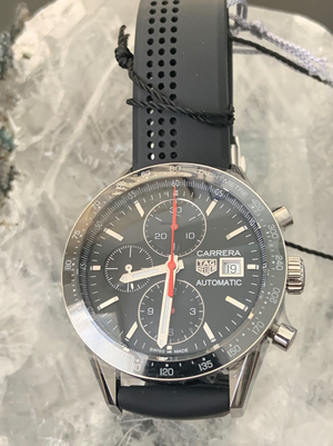 TAG Heuer Carrera Calibre 16 Chrono 41mm Rubber strap CV201AK.FT6040
