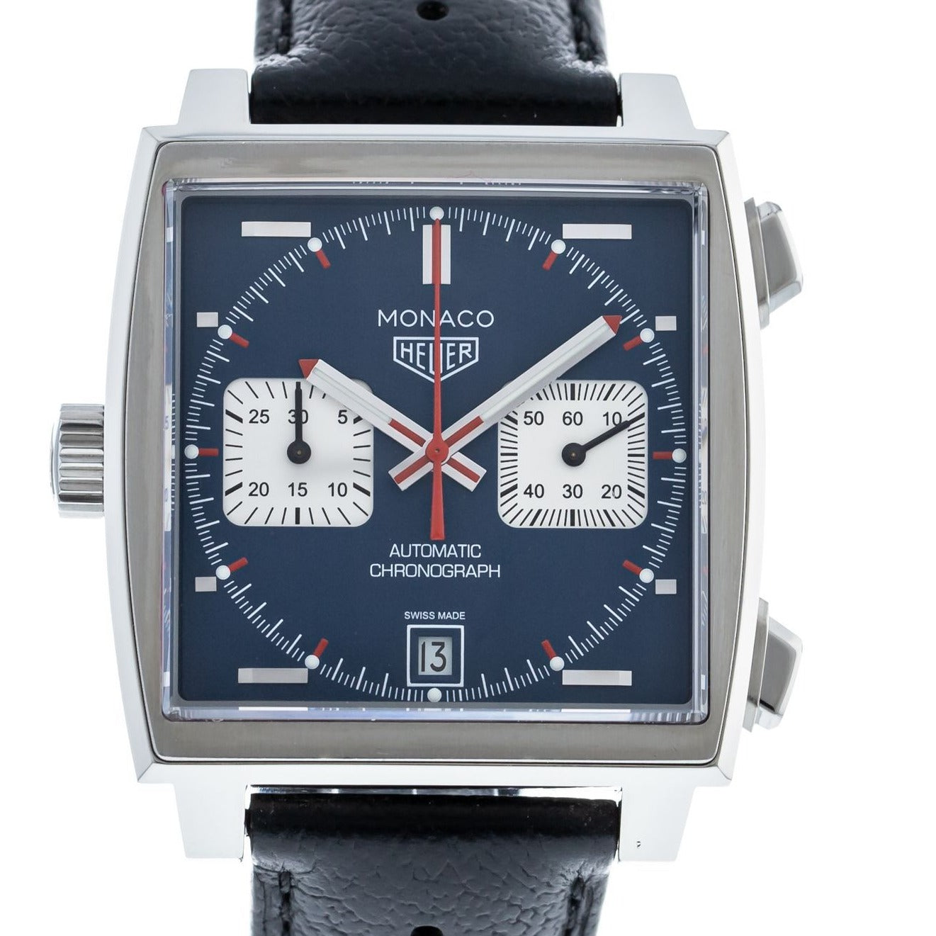 TAG Heuer CAW211PFC6356 Steve McQueen Monaco Calibre 11 Leather strap 39mm
