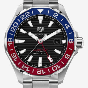 TAG Heuer Aquaracer Pepsi Gmt Calibre02 43mm Ref#WAY201F.BA0927