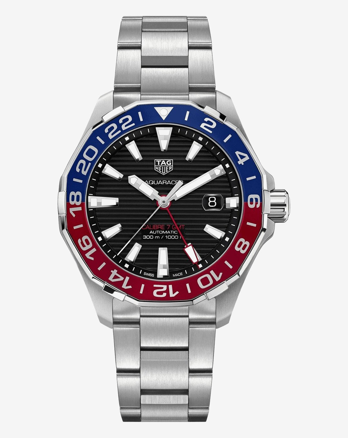 TAG Heuer Aquaracer Pepsi Gmt Calibre02 45mm Ref#WAY201F.BA0927