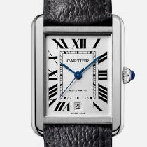 Cartier Tank Solo XL White Dial Automatic 31 x 40.85 Leather strap WSTA0029