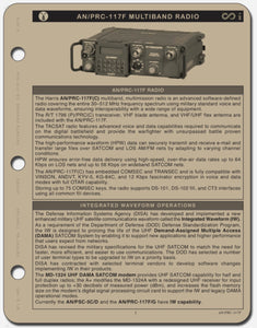 AN/PRC-117F QUICK GUIDE - Mission Essential Gear