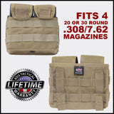 BDS Tactical Modular Stacker (4) .308/7.62 Magazine Pouch - Mission Essential Gear