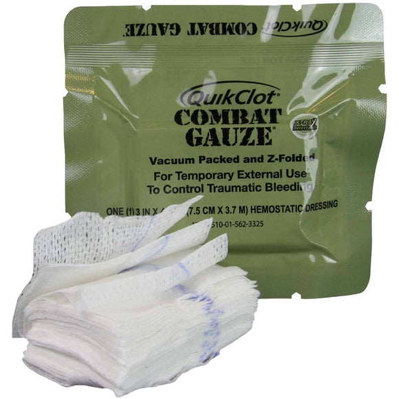 QUIKCLOT® COMBAT GAUZE Z-FOLDED (MILITARY) - Mission Essential Gear