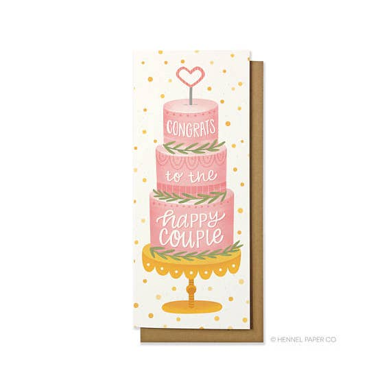 Wedding Cake Money Card
