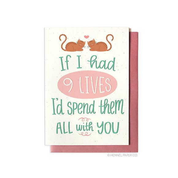 9 Lives Love Card