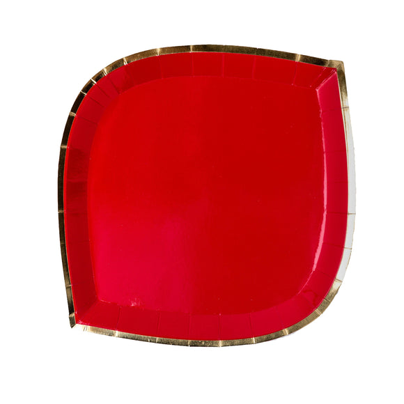 Jollity & Co Posh Dinner Plate, Ruby Kiss